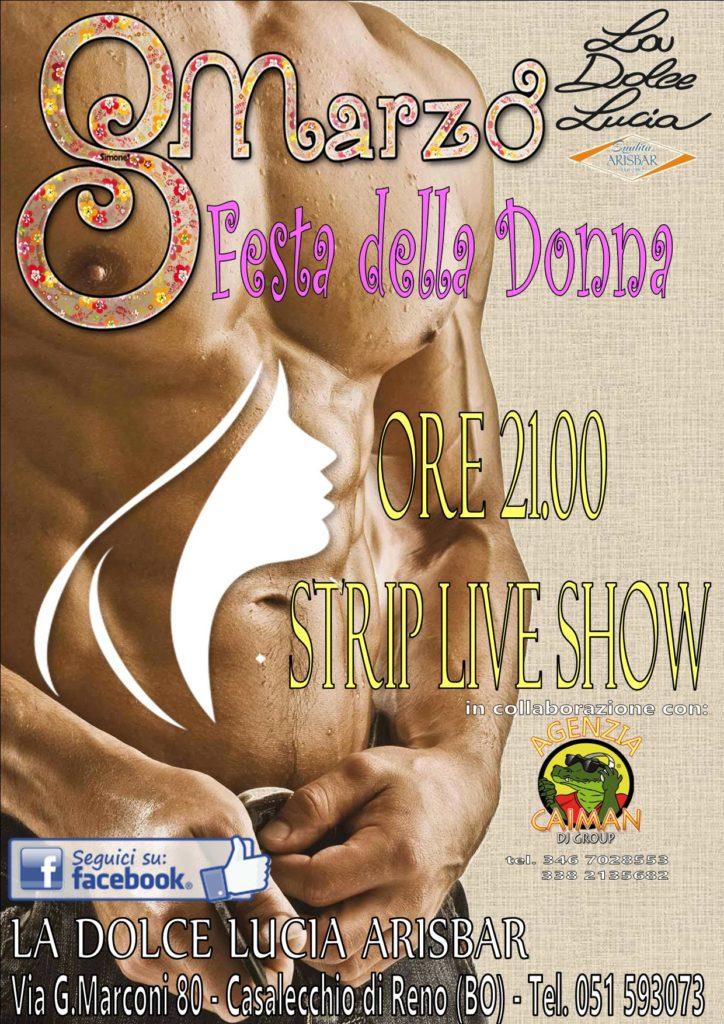 LOCANDINA DOLCE LUCIA stip live show 8 marzo