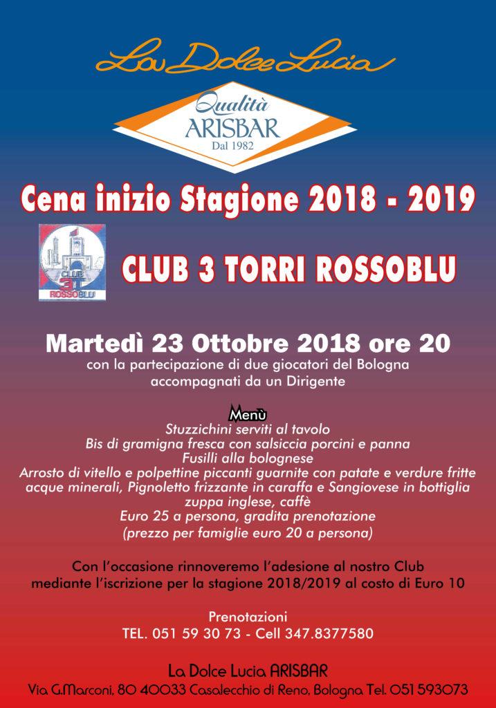 Cena inizio Stagione Bologna Calcio