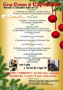 Arisbar cenone 2020 La Dolce Lucia locandin