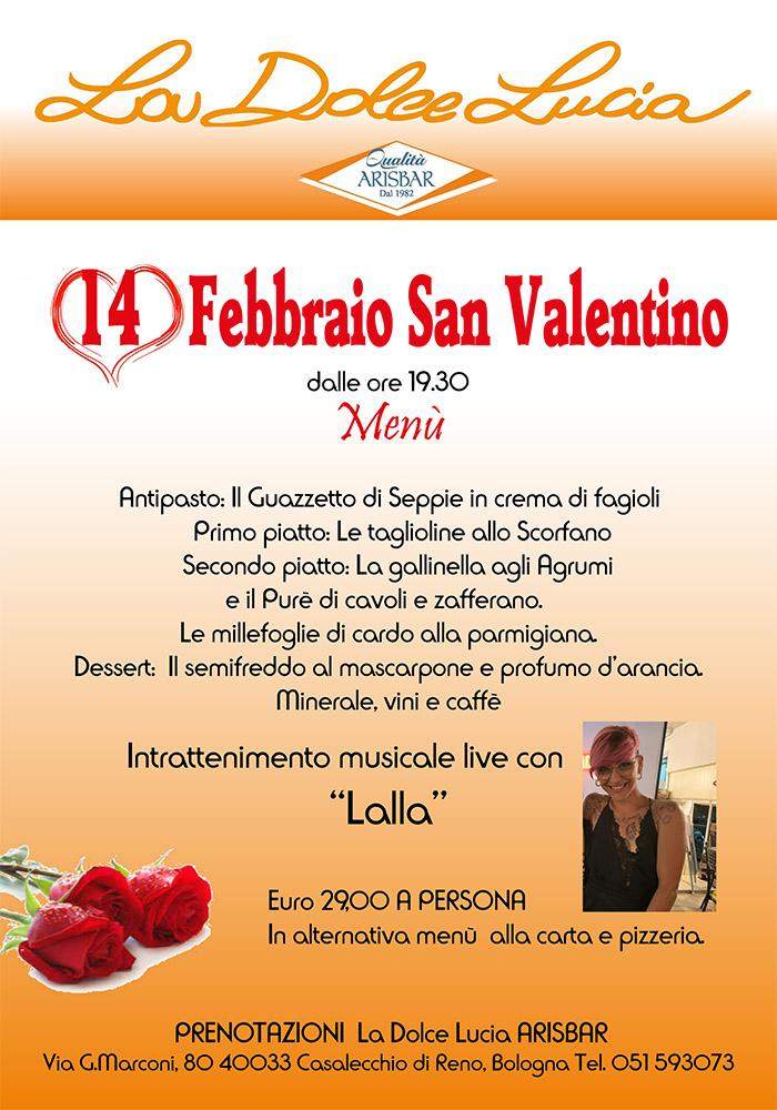 Arisbar san valentino 2020 a La Dolce Lucia